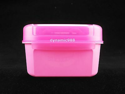 1 x TUPPERWARE Mini Treats Keeper 450ml Pink Color Square Limited Release