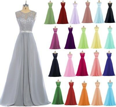 New Chiffon Bridesmaid Formal Ball Gown Party Cocktail Evening Prom Dresses 6-24