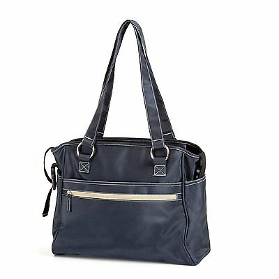 Hauck City Nappy Changing Bag & Padded Mat with Multiple Compartments -Navy Blue