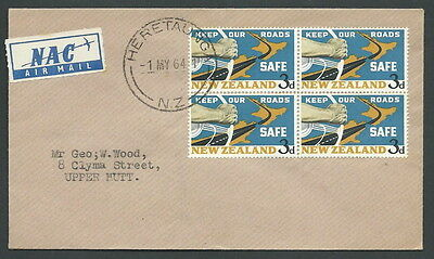 1964 New Zealand Fdc Keep Our Roads No Timbro Arrivo - V