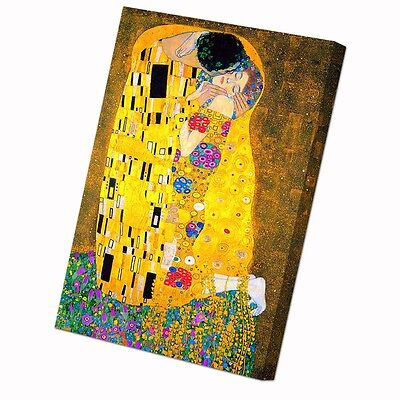 Gustav Klimt The Kiss Framed Canvas Modern Wall Art Picture