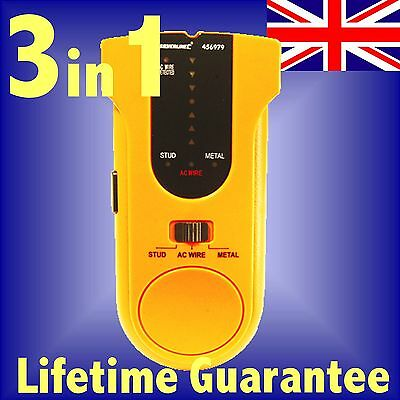 3 in 1 DETECTOR pipe stud wire metal joist live cable