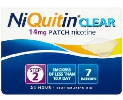 Niquitin CQ Clear Stop Smoking Patch 14 mg x7 Control Cravings Up To 24 Hours UK