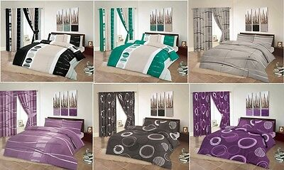 Printed Egyptian Cotton Duvet Cover Bed Set Pillowcases Double King Super King