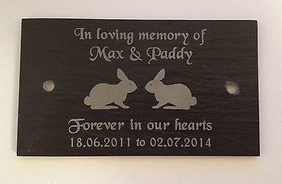 Personalised Engraved Pet Memorial Slate Bench Plaque Plate Grave Marker Sign