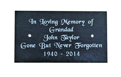Personalised Engraved Slate Bench Memorial Grave Marker Plaque Plate Sign