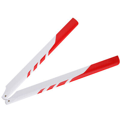 325mm Glass Fiber Main Rotor Blade for Trex 450 RC Helicopter Yellow/&Blackx2