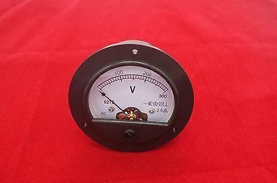 AC 0-300V Round Analog Voltmeter Voltage Panel Meter AC DH62 directly Connect