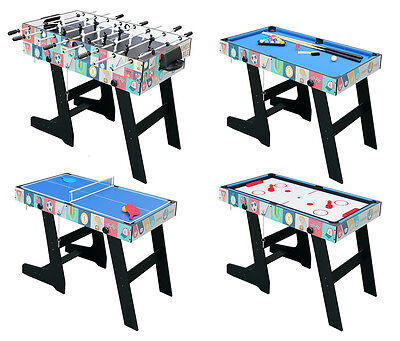 4FT 4in1 Game Table With Folding Legs-Pool/AirHockey/TableTennis/FootballTable