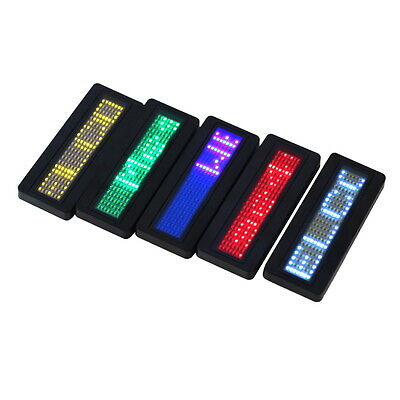 LED Programmable Scrolling Name Message Badge Tag Digital Display English GT