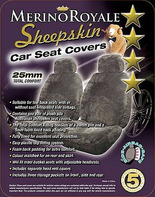 Sheepskin( Lambswool) Car Seat Covers 25mm , Seat Air bag Compatable, 4 Colours