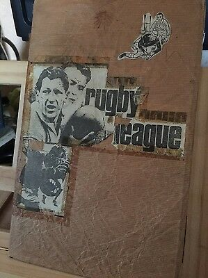 Rugby League Scrapbook started in 1968 - Wakefield Featherstone etc - rare
