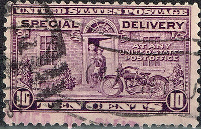 US Postman and Motorcycle classic stamp 1922