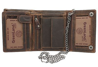 Greenland-Nature MONTANA Gents Leather Biker Wallet With Security Chain 191