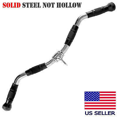 """Pro Grip Revolving 28"""" Curl Bar Cable Attachment for Bicep Curls Arm Triceps"""