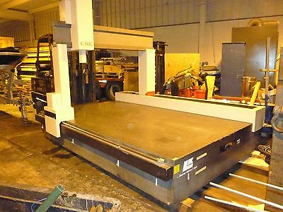 """GRANITE SURFACE PLATE 11'x74.5""""x19"""" THICK FORMERLY CMM MACHINE GOOD CONDITION"""