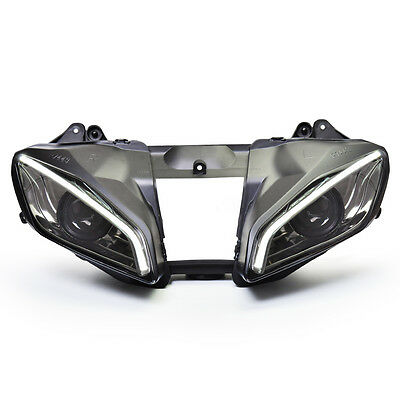 KT LED Headlight Assembly For Yamaha YZF R6 2008-2016 09 10 11 12 13 14 15 16