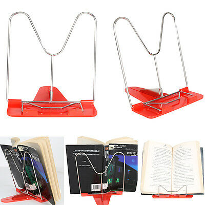 Adjustable Angle Foldable Portable Book Read Stand Document Pad Mount Holder Red