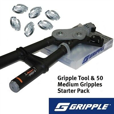 GRIPPLE TORQ TOOL & 50 GRIPPLE STARTER PACK - Wire Tensioning Fence Fencing