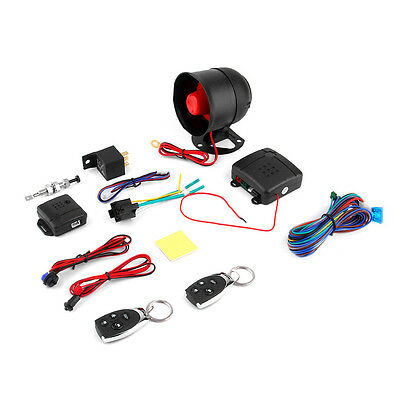 1 Car Vehicle Burglar Protection System Alarm Security+2 Remote Control E5