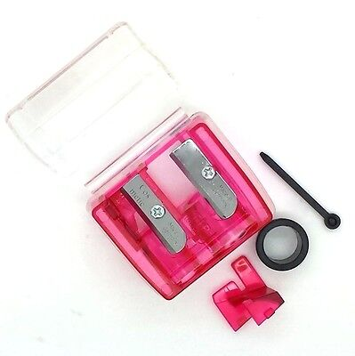 Cosmetic Pencil Duo Sharpener - Rounded & Sharp for precise point for makeup