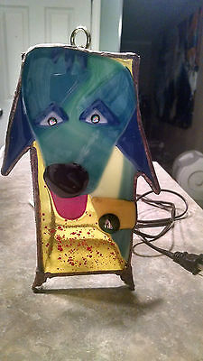 """""""Fido"""" Fused Glass Latern by Kelly Perley Puppy Dog Face"""