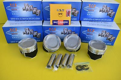 75mm YCP Vitara Pistons Coated Low Compression & NPR Rings Set Honda D16 TURBO