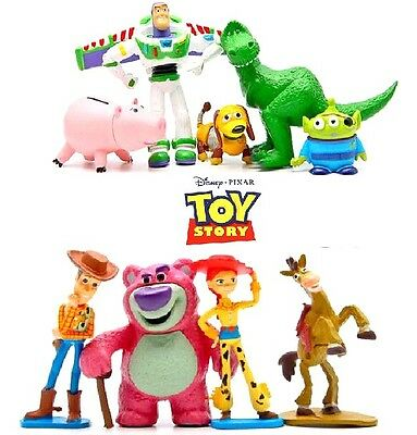 TY9CT Toy Story Cake Toppers Woody Buzz Rex Ham Slinky Jesse Set of 9 Figures