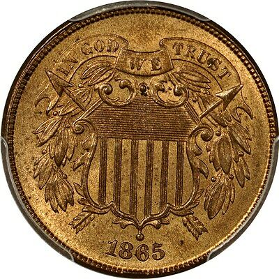 1865 2C Two Cent Piece PCGS MS64RB