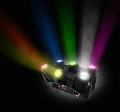 KAM Vector 6 Multi Head Pinspot Scanning Beam Effect RGBW LED Disco DJ Effect