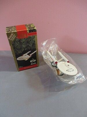Hallmark Star Trek 1991 USS Enterprise Ornament 25th Anniversary + Box WORKING