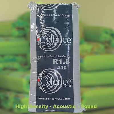 R1.8 Thermal Acoustic Sound Insulation Glasswool Cylence Batts: 430 width.