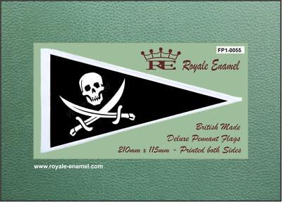 Royale Antenna Pennant Flag FP1.0101 THE WHO RED WHITE STRIPES MOD