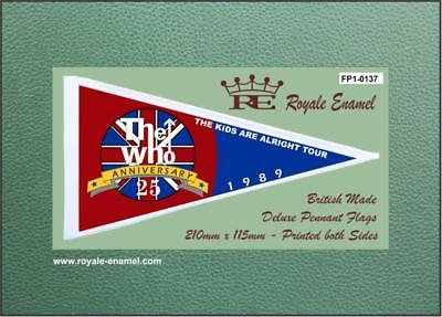 Royale Antenna Pennant Flag - THE WHO MOD ANNIVERSARY - FP1.0137