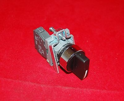 1PC 22mm Metal Maintained Select Selector switch 2 Position Fits XB4 BD21 1NO