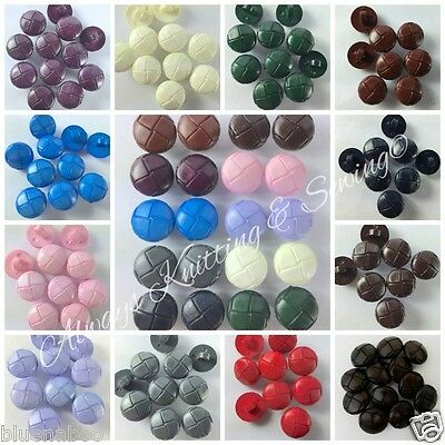 5 leather look football coat jacket buttons red blue green cream lilac  20mm