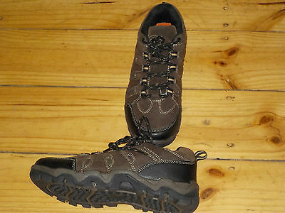 Brown Sturdy Walking Hiking Sand Shoes Trainers Size 3 Lace Up Boy Or Girl New