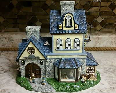 Partylite P7315 Candle Shoppe tealight house  Olde World Village #1 Candle maker