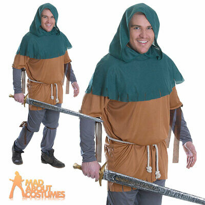 Adult Little John Costume Robin Hood Mens Book Week Day Fancy Dress Outfit New