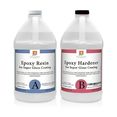EPOXY RESIN 1 Gal kit CRYSTAL CLEAR for Super Gloss Coating