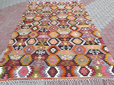 "Anatolia Turkish Antalya Nomads Kilim 75,1"" x 114,1"" Area Rug Kelim Carpet"