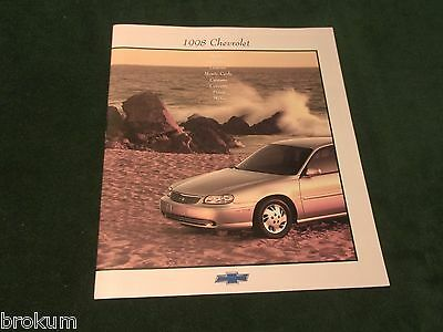 New Mint 1998 Chevrolet Chevy Full Line 20 Page Dealer Sales Brochure (Box 587)