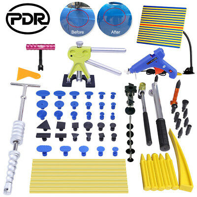 PDR Dent Lifter Slide Hammer Puller Tabs Paintless Repair Hail Removal Tools Kit