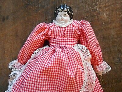 "Nice Vintage Hertwig ? 12"" Porcelain Southern Maid Mother Cook Doll German"