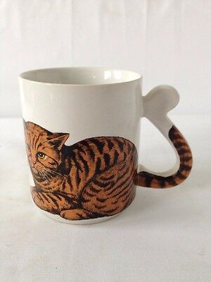 Vintage Cat Coffee Mug - Antique Ceramic Cup Made In Japan