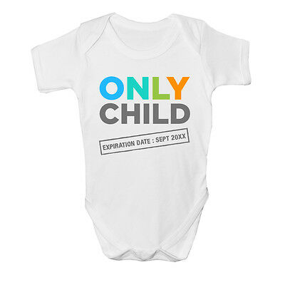 Only Child Expiring new baby Vest grow age size Funny design big Sister Brother