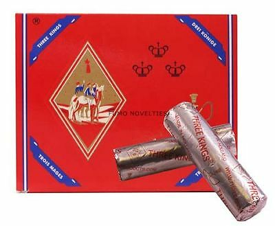 100 Pcs Three 3 Kings CHARCOAL Hookah Shisha Coal Incense 33 mm 10 Rolls Holland