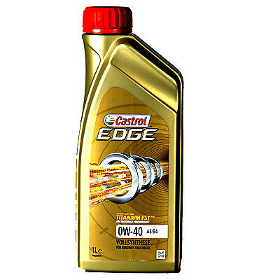 Castrol Edge Titanium  Engine Oil Fst A3 / B4 0W-40 Fully Synthetic 1 Litre 1L