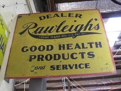 Vintage Double Sided Rawleigh's Sign