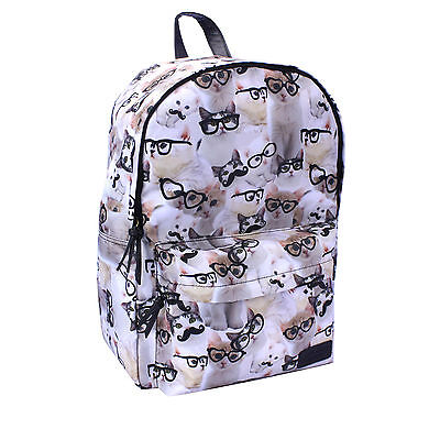 """Cats with Glasses and Mustaches 18"""" Backpack"""